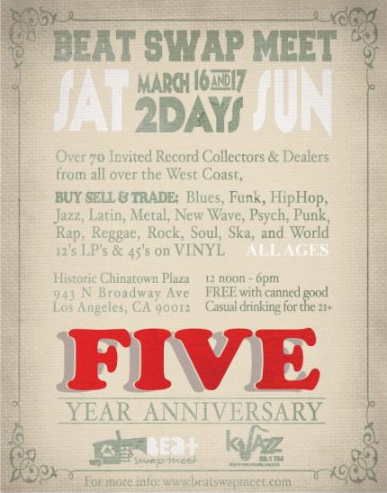 Beat Swap Meet's 5 Year Anniversary!